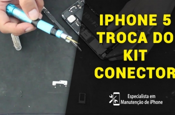 Como trocar o Kit Conector do iPhone 5