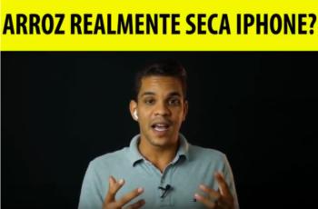 É possível secar ou tirar a umidade do iPhone com arroz?