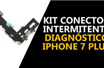 Como diagnosticar um iPhone 7 Plus com kit conector intermitente