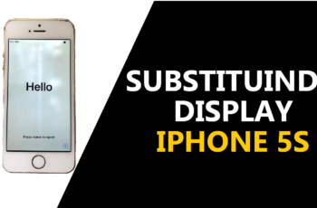 Como substituir no iPhone 5S o display.