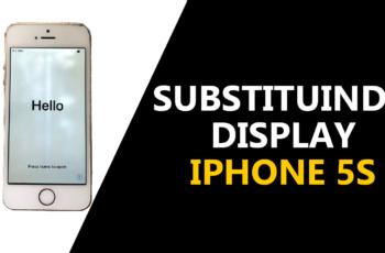 Como substituir no iPhone 5S o display.